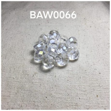 Manik kristal 10 mili,white clear
