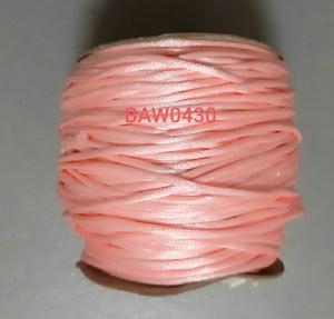 Tali giok satin 2 mm warna pink salem