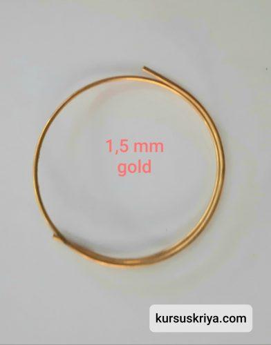 Kawat asesoris tembaga 1,5 mm warna gold