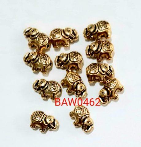 Manik logam gajah gold 10 mm