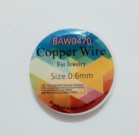Kawat asesoris 0.6 mm rose red