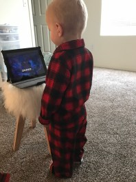Loves watching movies in his jammies