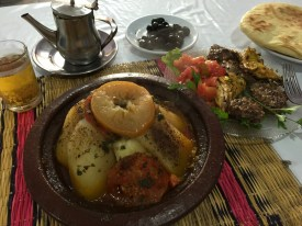 Tagine and mint tea in Marrakech, Morocco