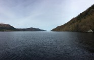 Searching for Nessie in Loch Ness, Scotland.