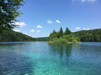 The lake water is as clear and as pure as it can be in the Plitvice Lakes National Park, Croatia.