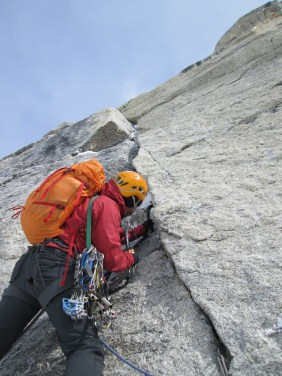 Starting up the aid pitch on the Phantom Wall