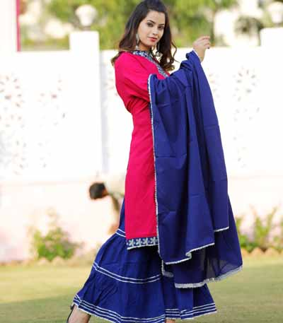 Stlyish partywear sharara set with dupatta