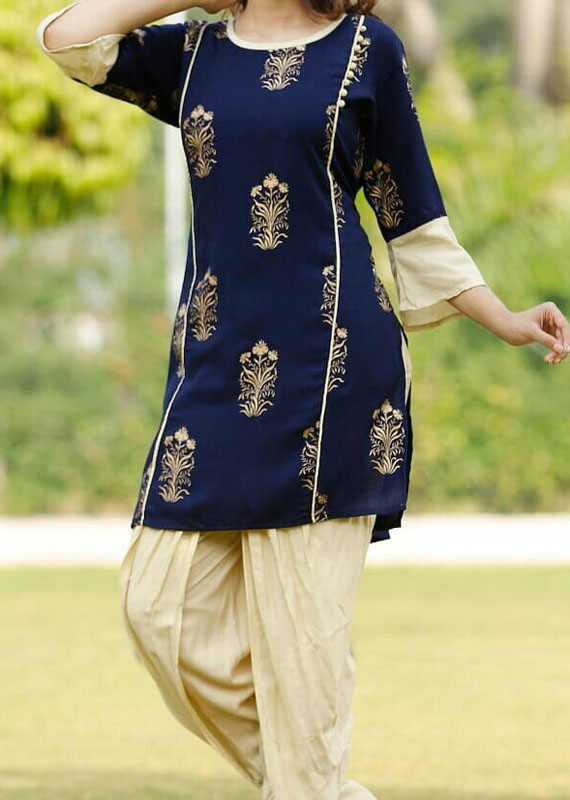 Designer dhoti kurta in rayon fabric [1080]