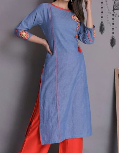 Kurti plazo set with imported fabric [1075]