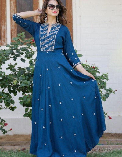 Long gown with heavy zari work [AM-1177]