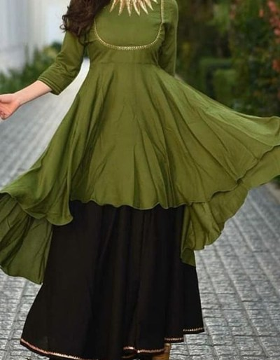 rayon gown with heavy hand work [1094]