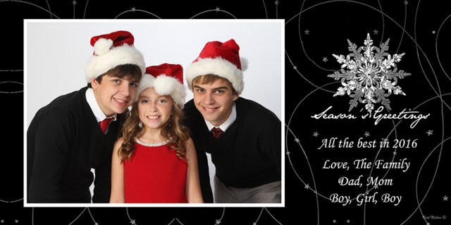 holiday greeting card photography studio