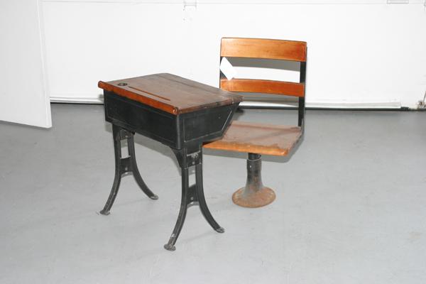 antique child's school desk for sale