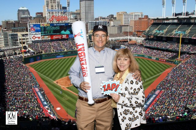 photo booth at progressive field in Cleveland