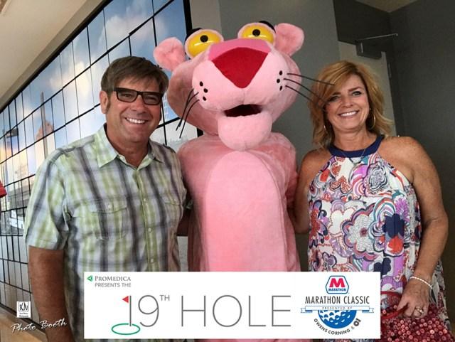 Owens Corning Pink Panther at the LPGA Marathon Classic Gala