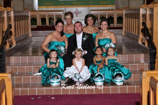 Bridesmaids with Groom Pictures