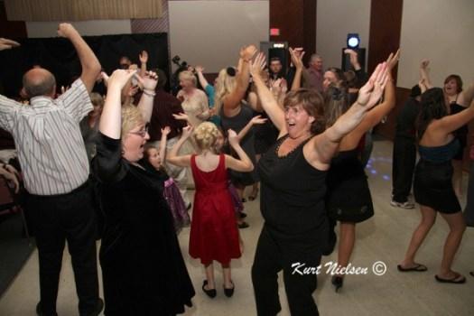 having fun at wedding receptions
