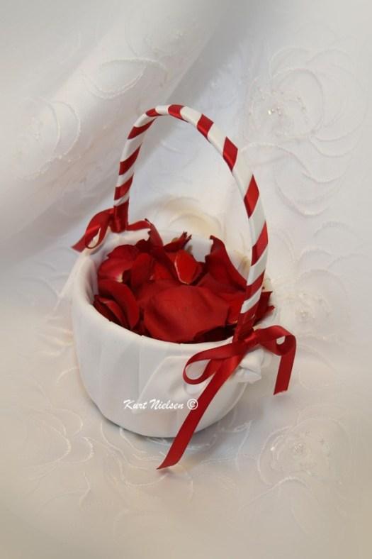 Decorated Flower Girl Basket