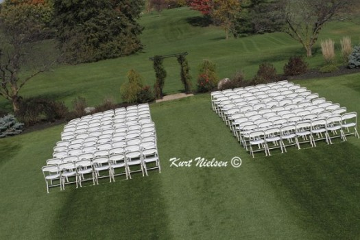 Outside Wedding at Tamaron Country Club in the Fall