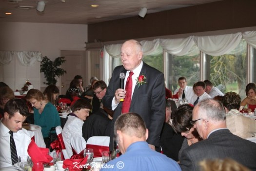 Dinner Prayer at Wedding