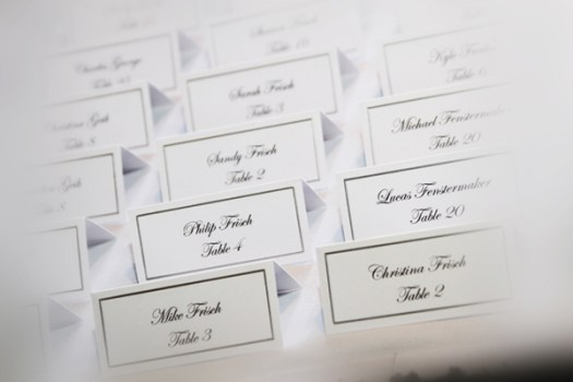 Traditional Escort Cards Place Cards