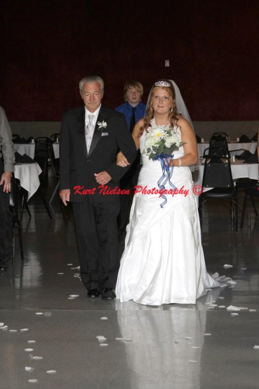 father giving away bride photos