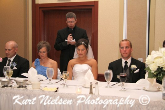 wedding reception prayer before meal