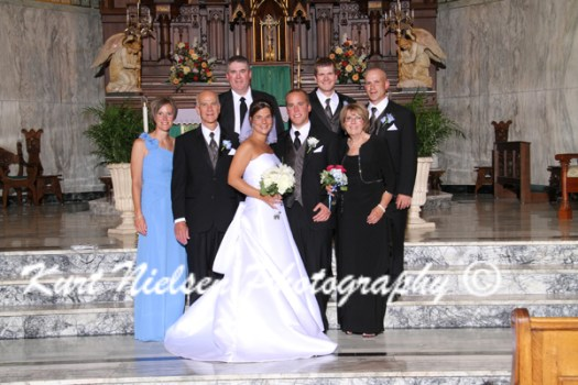 bride's immediate family