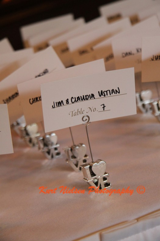 wedding seating card holder