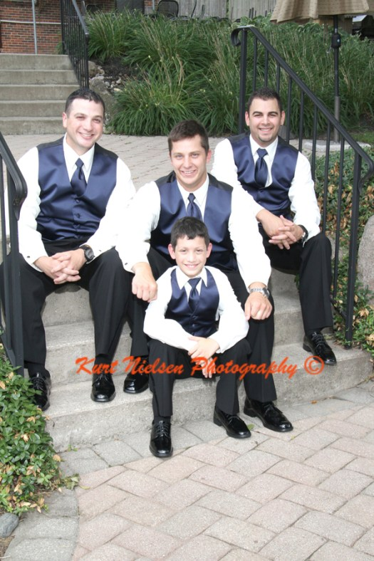 groomsmen formal portraits