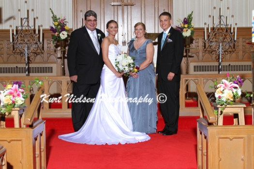 bride's family portraits
