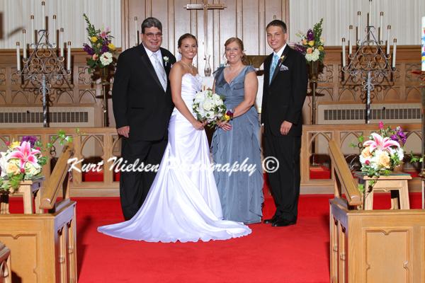 bride's family portraits