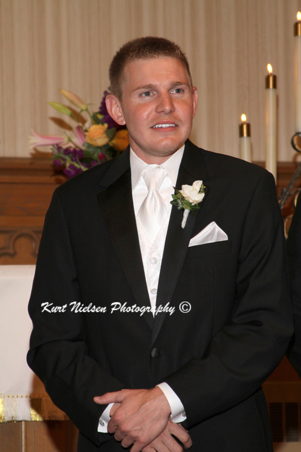 anticipation on the groom's face