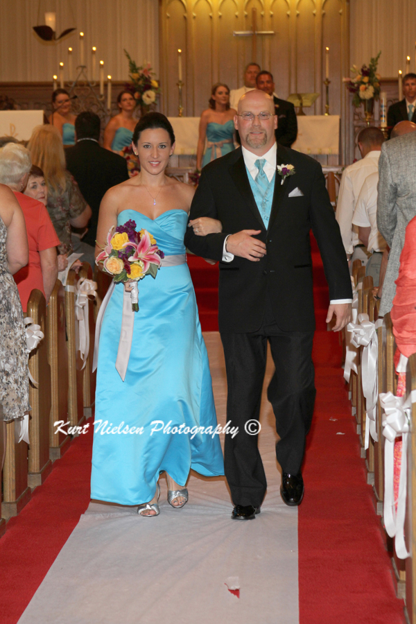 escorting bridesmaids