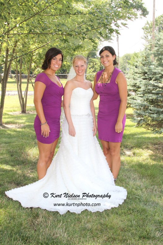 purple bridesmaids dresses