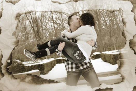 winter engagement photographer