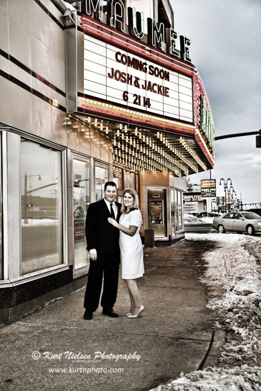 coming soon movie theater engagement photos