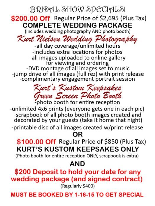 toledo bridal show discounts