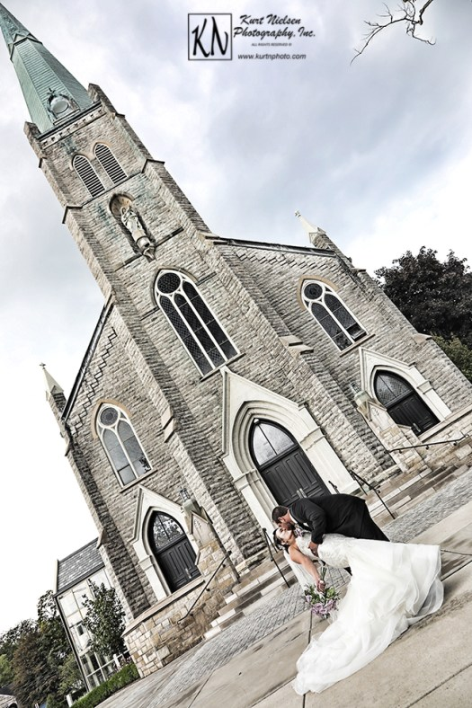 St Rose church Perrysburg wedding photography