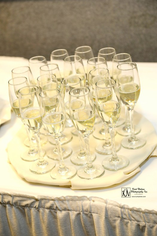 Champagne glasses for toast
