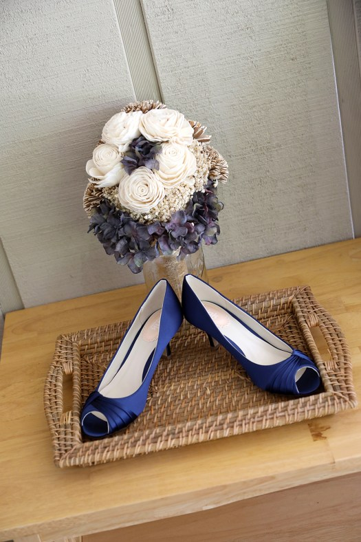 wedding shoes that match the bride's bouquet