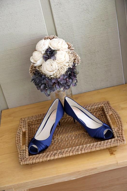 wedding shoes that match the bride's bouquet