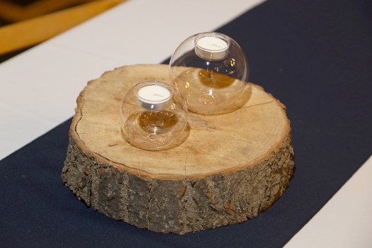 wooden centerpieces for the wedding