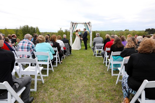 picture from the back of the wedding venue