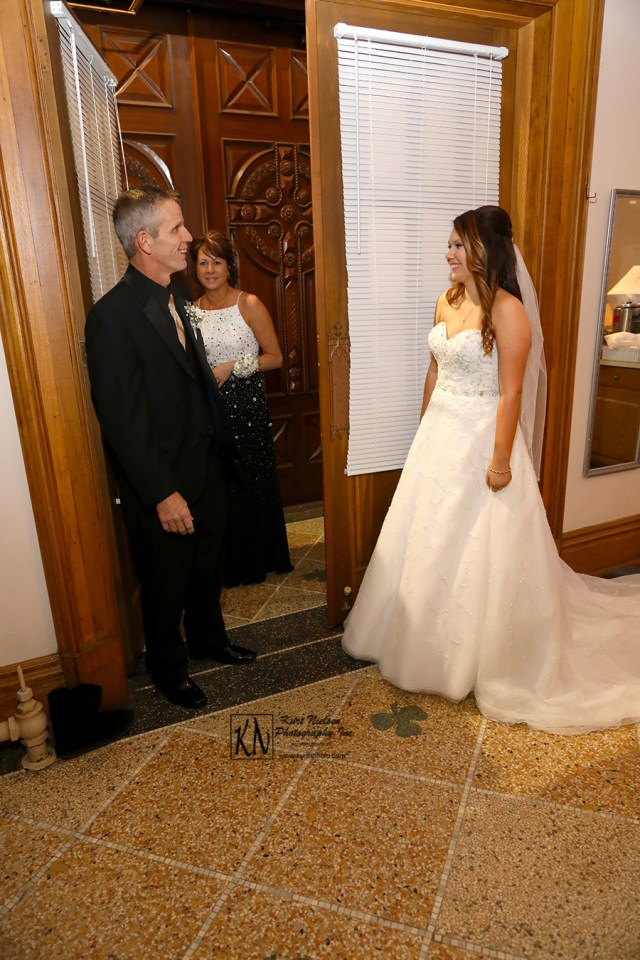 bride's father's first look