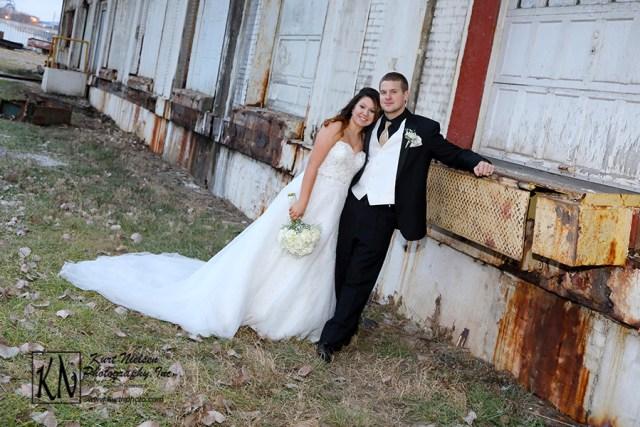 downtown Toledo Warehouse district wedding photo