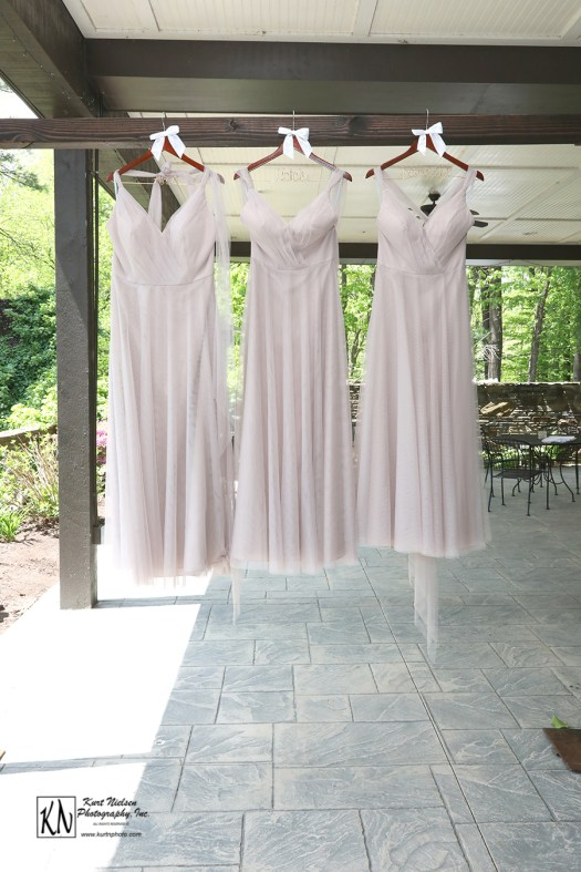 nude bobbinet a line bridesmaids dresses designed by Wtoo