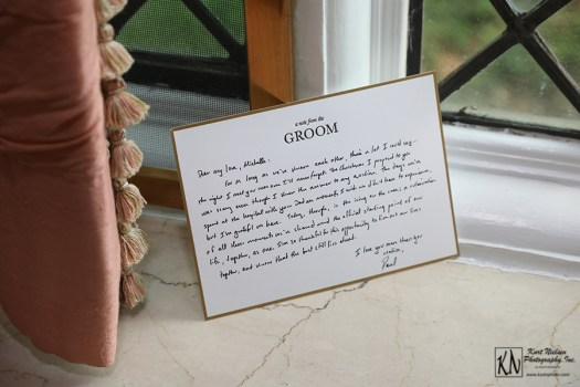 letter from the groom to the bride