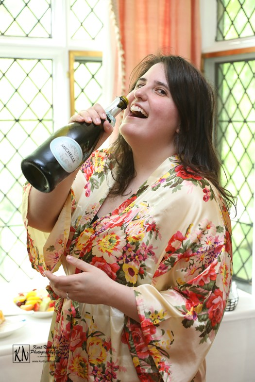 bride drinking barefoot wine bubbly prosecco