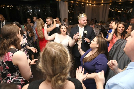 photos of the dance floor at a wedding with Cleveland Music Group